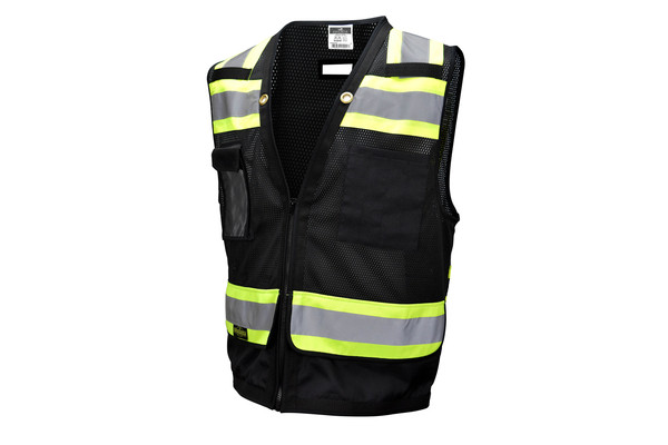 Stylish black safety vests