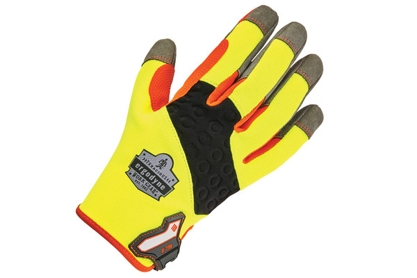 Hi-vis trades gloves
