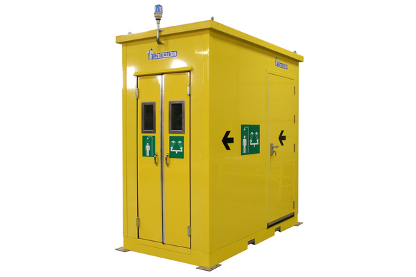 Emergency showers for harsh environments