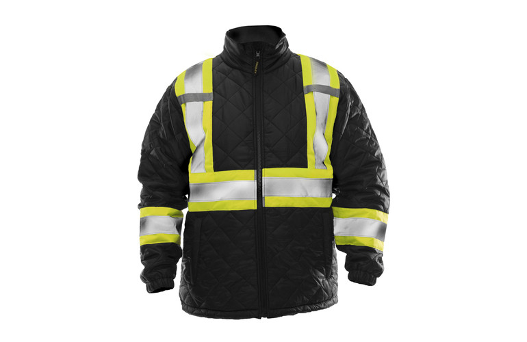 Quilted hi-vis jacket